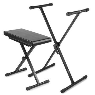 Sada lavice, stoličky + statív pod klávesnicou / pevným