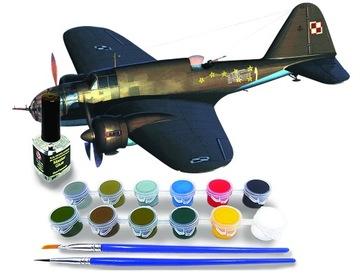 PZL-37A 'Łoś' a model pre lepenie + farby a lepidlo