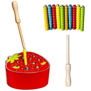 Hra Drevený Catch darček Magnet Strawberry Kijek