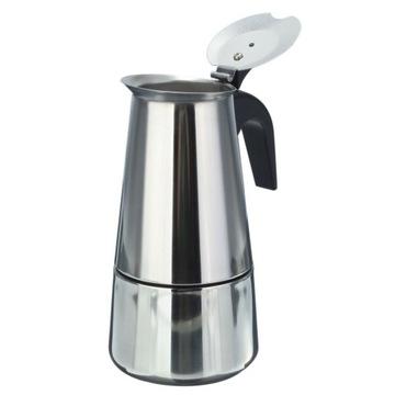 Oceľový kávovar na 2 šálky kávovaru