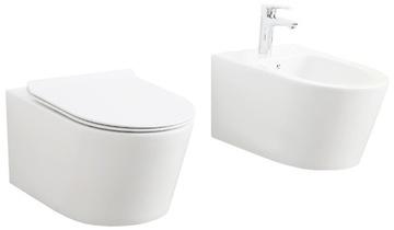 NOVA POZASTAVENÁ SADA Záchodová toaleta + BIDET
