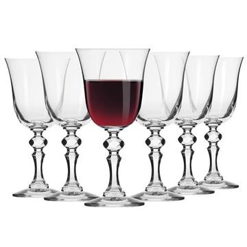 Červené okuliare na víno Krista Krosno 6 ks