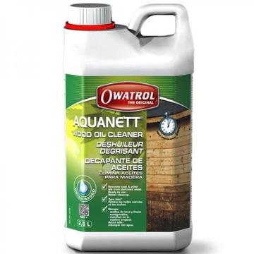 OWATROL AQUANETT odstraňuje olej z dreva 2,5 l