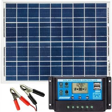 Solárna batéria Solárna panel 20W 10A Regulátor