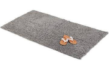 Kúpeľňa koberec Šedá Shaggy veľký 100x60 cm