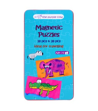 Cestovanie hra Purple Cow Magnetic Puzzle