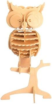 ROBOTIME Drevené puzzle 3D model sovy
