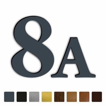 Číslo domu číslice dom - 20cm FARBY matná / polohliníková M1