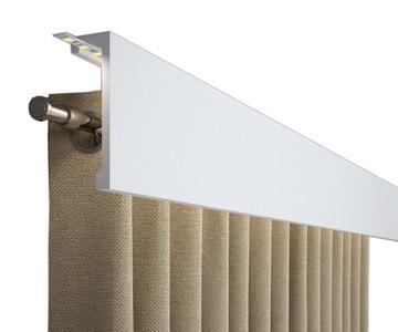 Kryt, inštalácia záclonovej tyče, 15 cm maskovací rám QL036LG