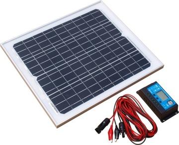 Solárny panel monokryštalický 20W 12V + regulátor