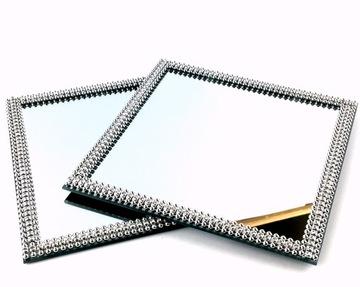 Zrkadlový zásobník Strieborný stojan 15cm II Žáner