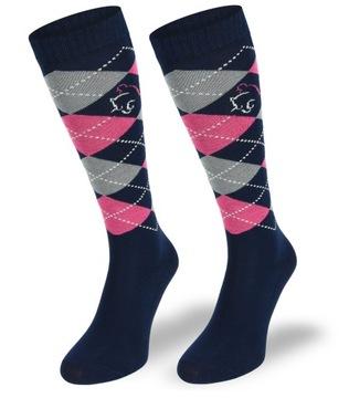 Jazdecké ponožky pre deti 80% bavlna 31-34