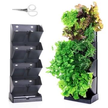 Záhradné vertikálne modulárne hrnce na kvety byliniek
