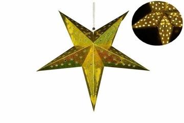 Vianočná hviezda s časovačom, 60 cm, 10 LED