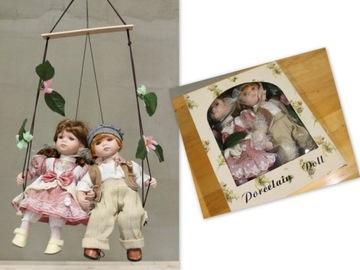 0218 Porcelánová bábika / pár, Porcelánová bábika, 30 cm