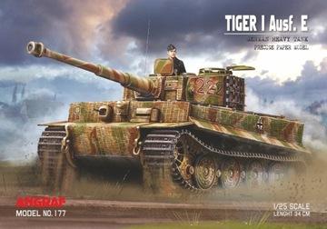 Tiger a AUSF. E, model ANGRAF, 1:25