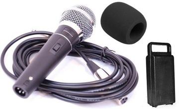 AZUSA DM-604 Dynamický mikrofón, 5m kábel, prípad