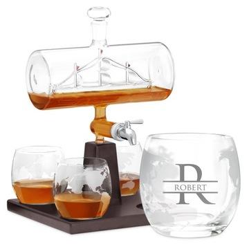 Kit pre whisky CARAFE lodi Engrger darček