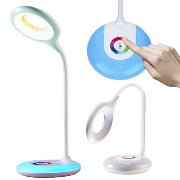 LED SCHOOL DESK LAMP RING RGB stolová lampa