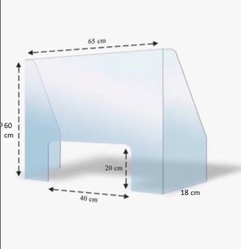 Kryt s Plexigi ochranným plexy 65x60 cm 3mm stranami