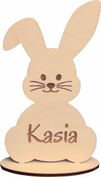 Zając Veľkonočný Bunny s dreveným menom