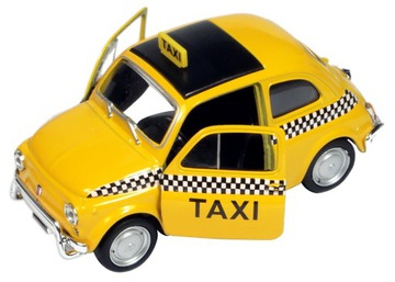 Welly Metal Auto Model FIAT NUOVA 500 TAXI