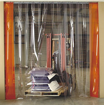 Transparentná opasok PVC 1M x 4M prúžky
