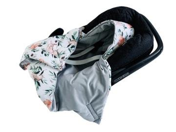 ZIMNÉ prikrývky na deky pre autosedačku VELVET
