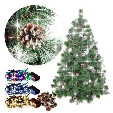 Vianočný strom umelý borovicový sneh 220 stojan zadarmo