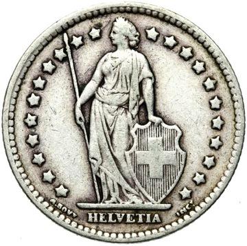 + Švajčiarsko - 1 Frank 1931 B - Silver