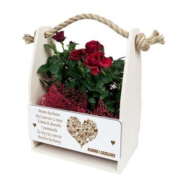 Flowerpot pre Matku Matka Matka Wood