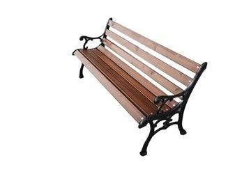 Záhradná lavička do parku, liatinové nohy VÝROBCA