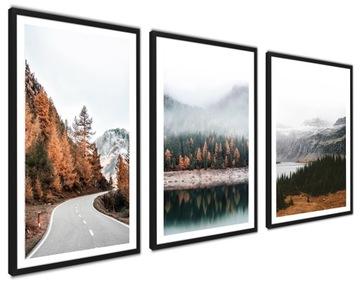 Plagáty.Obrázky v ráme TRIPTYK jeseň VEĽKÁ SADA