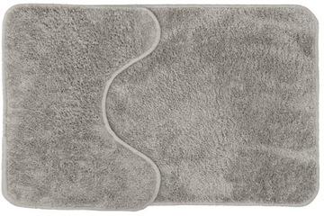 Mäkký kúpeľňový koberec SOFT, 2 ks, sivý
