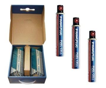 Nechty 2,8x70mm 3300ks + 3 RawlPlugové plyny