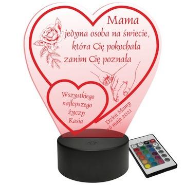 LED Štaratná lampa Podskupina Srdce + diaľkové ovládanie