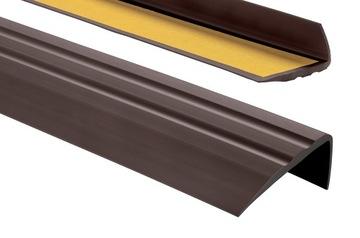 Protišmykový schodiskový profil 50x25 2,00m C. Hnedý
