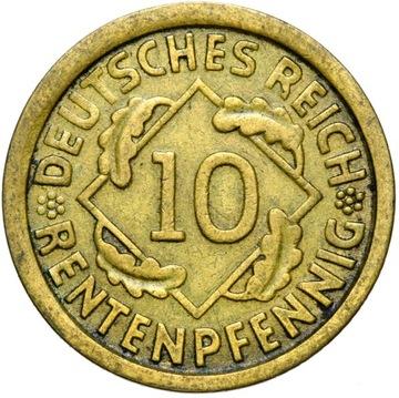 + Nemecko - WEIMAR - 10 RENTENPFENNIG 1924 F