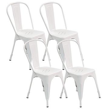 Kovová stolička, 4 ks TOLIX TOWER biely loft