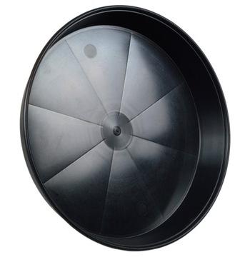 Okrúhly čierny tanierik 35cm - silný