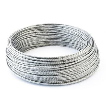 Lanový oceľový kábel 4mm Weave 6x19 OC OCYNK 50m