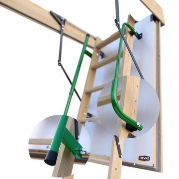 Pasívny pôdny rebrík HEYKE s 2 zábradlím 140x70
