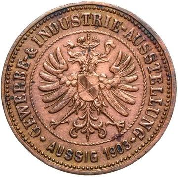 + Česká republika Uści nad Dłab Aussig 1903 - Otto Popper