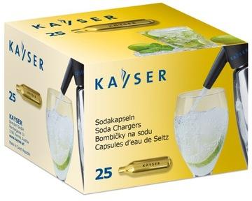 Kryt sodný sodík Vodné náplne 25ks Kayser Soda