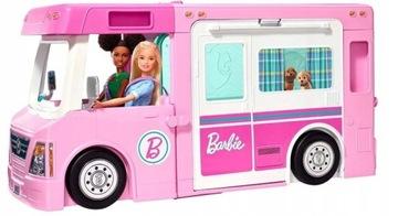 Barbie Kamper 3in1 Vozidlo + Chata + bazén GHL93