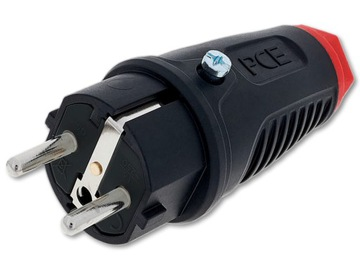 Gumová zátka 230V 16A 3P Konektor PCE 0522