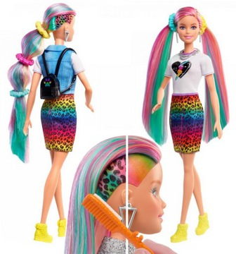 Barbie Barbie bábika účes Rainbow Sada