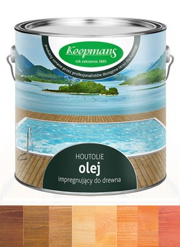 Olej na drevo Koopmans Houtolie, terasa 2,5 l, farba