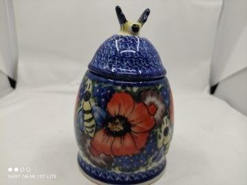 Kontajner 0.25L 398 keramika Bolesławiec 9unikat