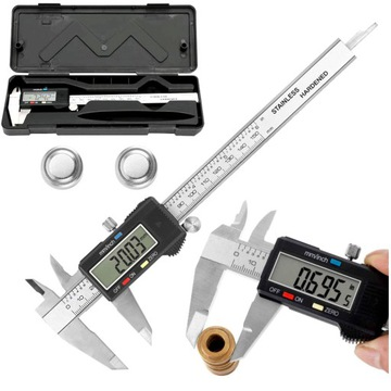 Elektronický Caliper Digital Metal + Case